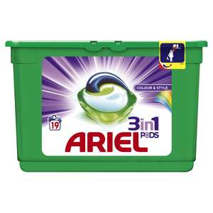 Ariel 3in1 Tablets Colour and Style 19 Washes £3 @ Wilkos