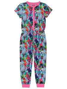Asda trolls short sleeved onesie £6 reduced from £10 free c&c