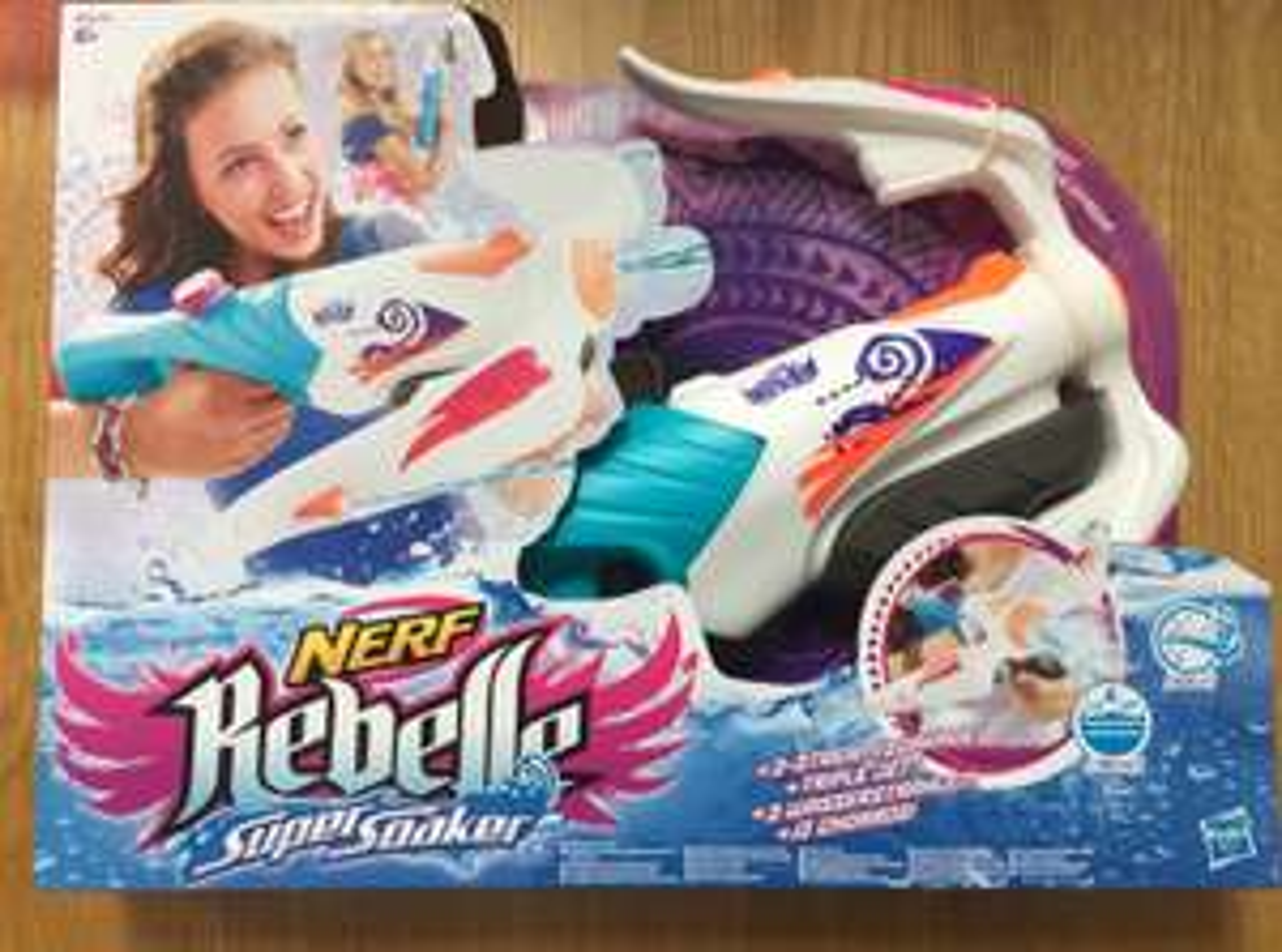 Nerf Rebelle Super Soaker watergun instore at Home Bargains - £6.99