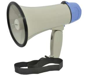 Burglar in the house? Father's Day present? Portable, loud, well reviewed megaphone (with siren!) - Amazon £8.73 prime / £13.22 non prime  /