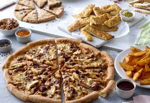 ANY XXL pizza + Garlic Pizza Sticks + Wedges  + Giant Choc Chip Cookie for £19.99 delivered @ Papa Johns