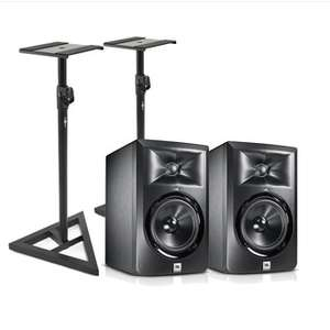 Pair of JBL LSR305 Active Studio Monitors + Stands & 2 Year Warranty £189 Delivered @ Gear4Music (Free returns / 30 day money back guarantee)