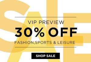 VIP Sale preview 30% off at the hut with code