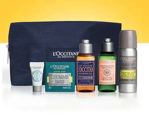 Grooming Routine on the go gift set £20 with free travel size Terre de Lumière L'Eau - free samples - free gift wrapping and free delivery with code @ L'occitane (New customers)