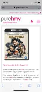 Sicario 4k Ultra hd 9.99 @ hmv (pure members only)