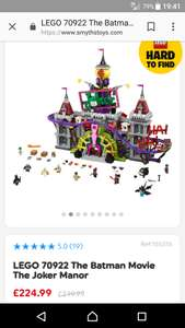 Lego 70922 jokers Manor @ smyths - £224.99