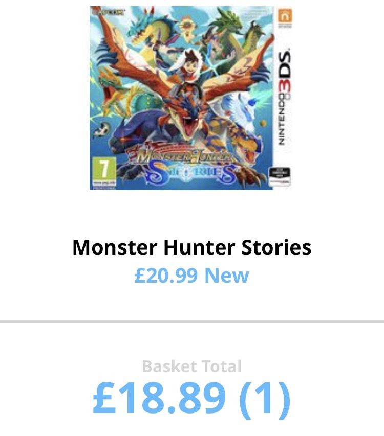 "Monster hunter stories (says ""New"") £18.89 @ MusicMagpieStore"