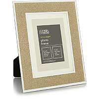 "7 X 5 "" gold glitter glass photo frame now £2.50 @ Asda C+C"