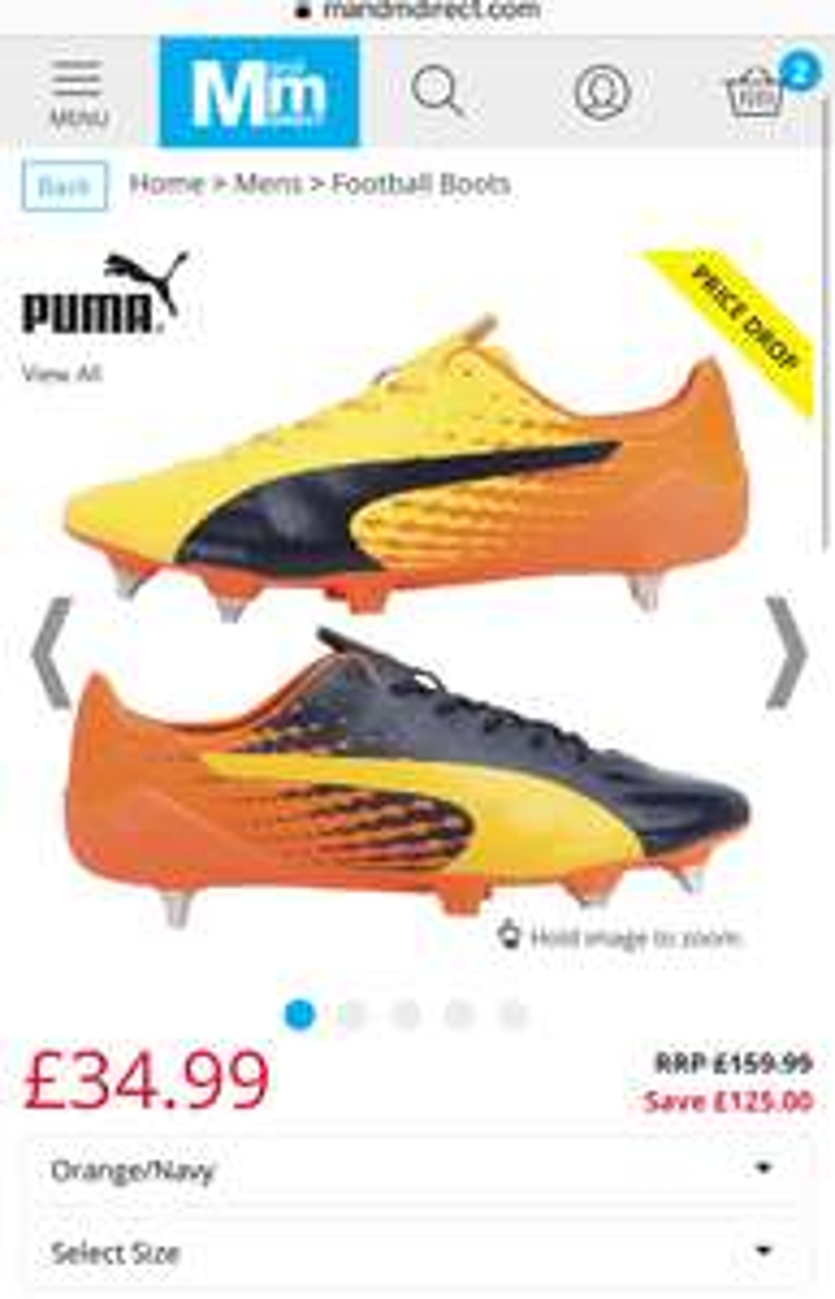 Puma Mens evoSPEED 17 Super Lightweight Mix SG £34.99 @ M&M Direct p&p £4.49