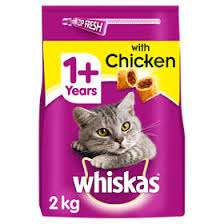 Whiskas 1+ Cat Complete Dry with Chicken 2kg - £1.25 at Asda instore