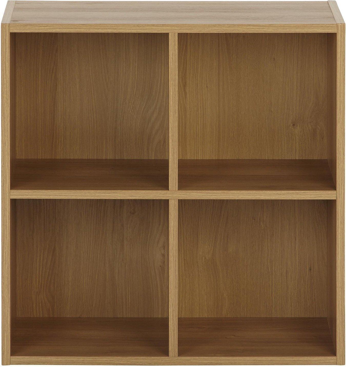 Vernon 4 Cube Bookcase - Oak - £11 C&C @ Tesco Direct