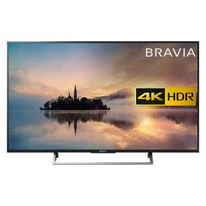 "Sony Bravia KD55XE7073 LED HDR 4K Ultra HD Smart TV, 55"" with Freeview Play & Cable Management, Silver £549 John Lewis"