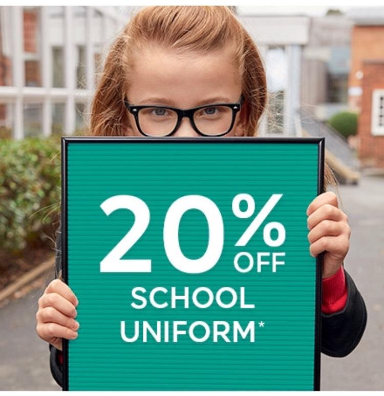20% Off M&S School Uniform