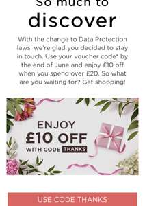 £10 off when you spend £20 or more on QVCUK.COM Website Existing Accounts only
