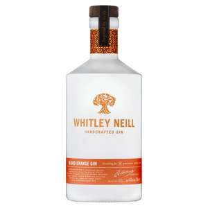 Whitley Neill blood orange, raspberry, rhubarb & ginger and quince gin was £26 now £22 @ Morrisons