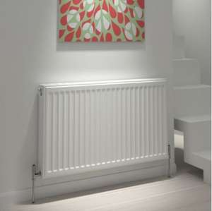 Single Panel Radiator (H)300MM (W)600MM - Supplied with wall fixings kit, bleed plugs & 15 years warranty £14 @ B&Q