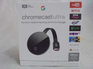 GOOGLE Chromecast Ultra - 4K Ultra HD - Black open box/return £49.68 @ Currys / ebay