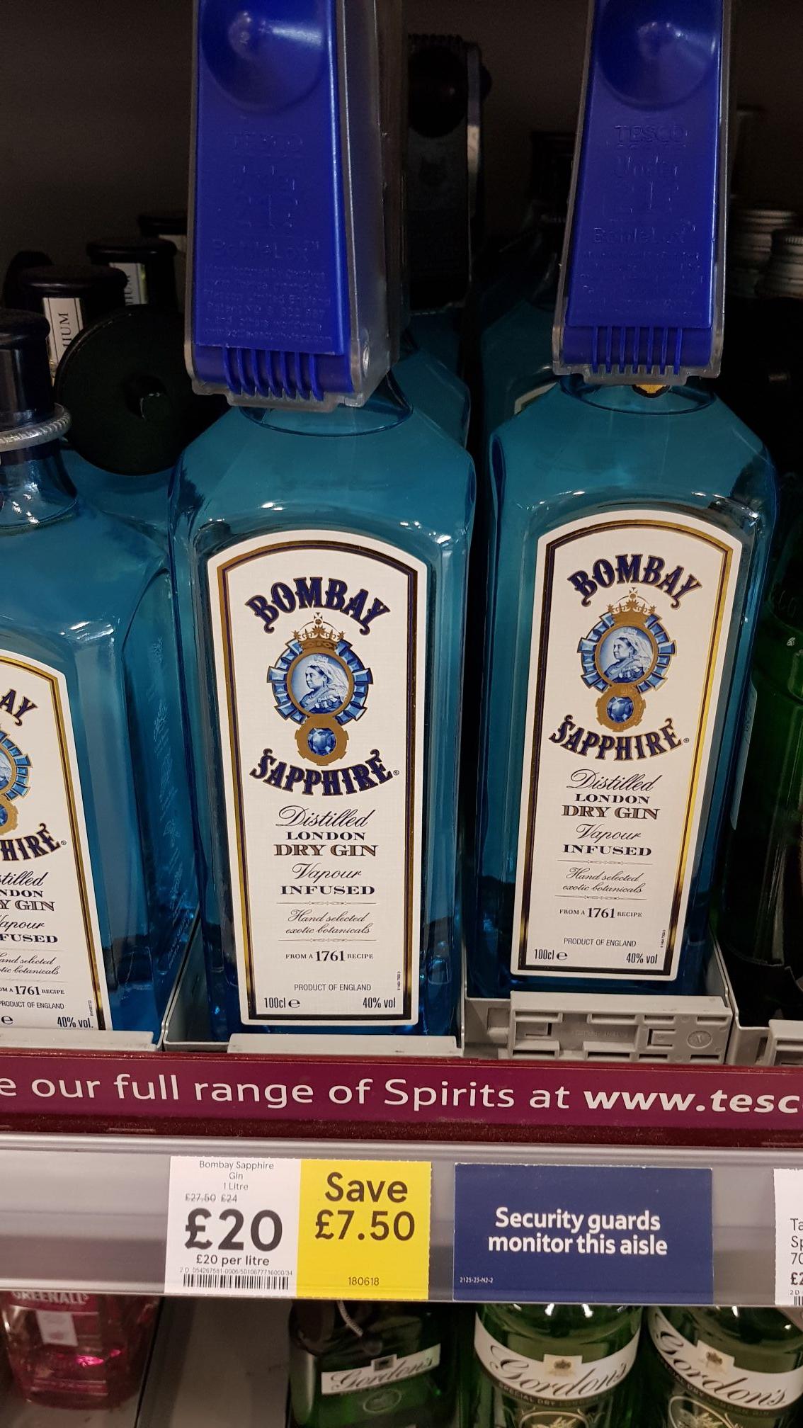 Its Back! - 1 Litre Bombay Sapphire £20 @ Tesco