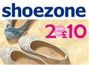 2 PAIRS of SHOES for £10! Mix & Match Deal. FREE DELIVERY @ ShoeZone