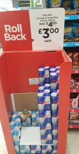 Red Bull 4pk only £3 at Asda instore and online