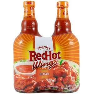 Frank's Red Hot Buffalo Wings Sauce 2 x 680ml (large bottle) £4.49 @ Costco warehouse