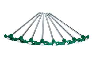 "Groundhog 10"" hard ground tent pegs (8pk) was £5 now £2.50 @ Halfords - free c&c"