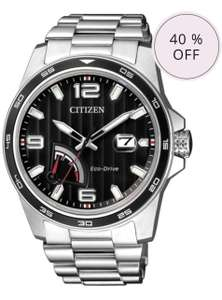 CITIZEN ECO-DRIVE PRT STAINLESS STEEL DATE WATCH AW7030-57E - £124.17 (with code) @ Chapelle Jewellery