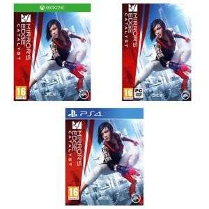 Mirrors edge catalyst £4.99 PS4 & PC. ~ Xbox one £5.99 delivered @ Argos eBay