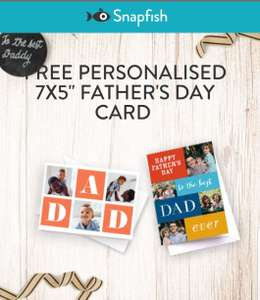 FREE Personalised Father's Day Card using MSE Promo Link. 99p delivery from Snapfish.