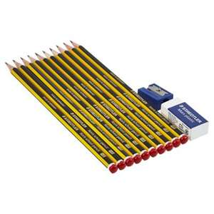 Staedtler 10HB Noris Pencils w/Eraser/Sharpener for £1.50 @ Tesco Direct (Free C&C)