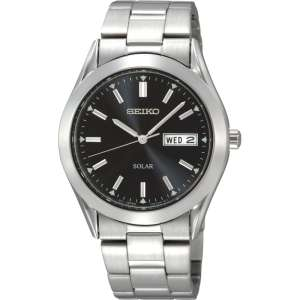 Seiko Solar Black Dial Stainless Steel Bracelet Watch £66.49 (Rubicon Watches) (RRP £159)