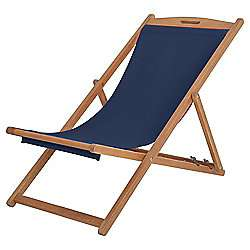 Kingsbury Wooden Navy Deck Chair - £15 / £22.95 delivered @ Tesco Direct