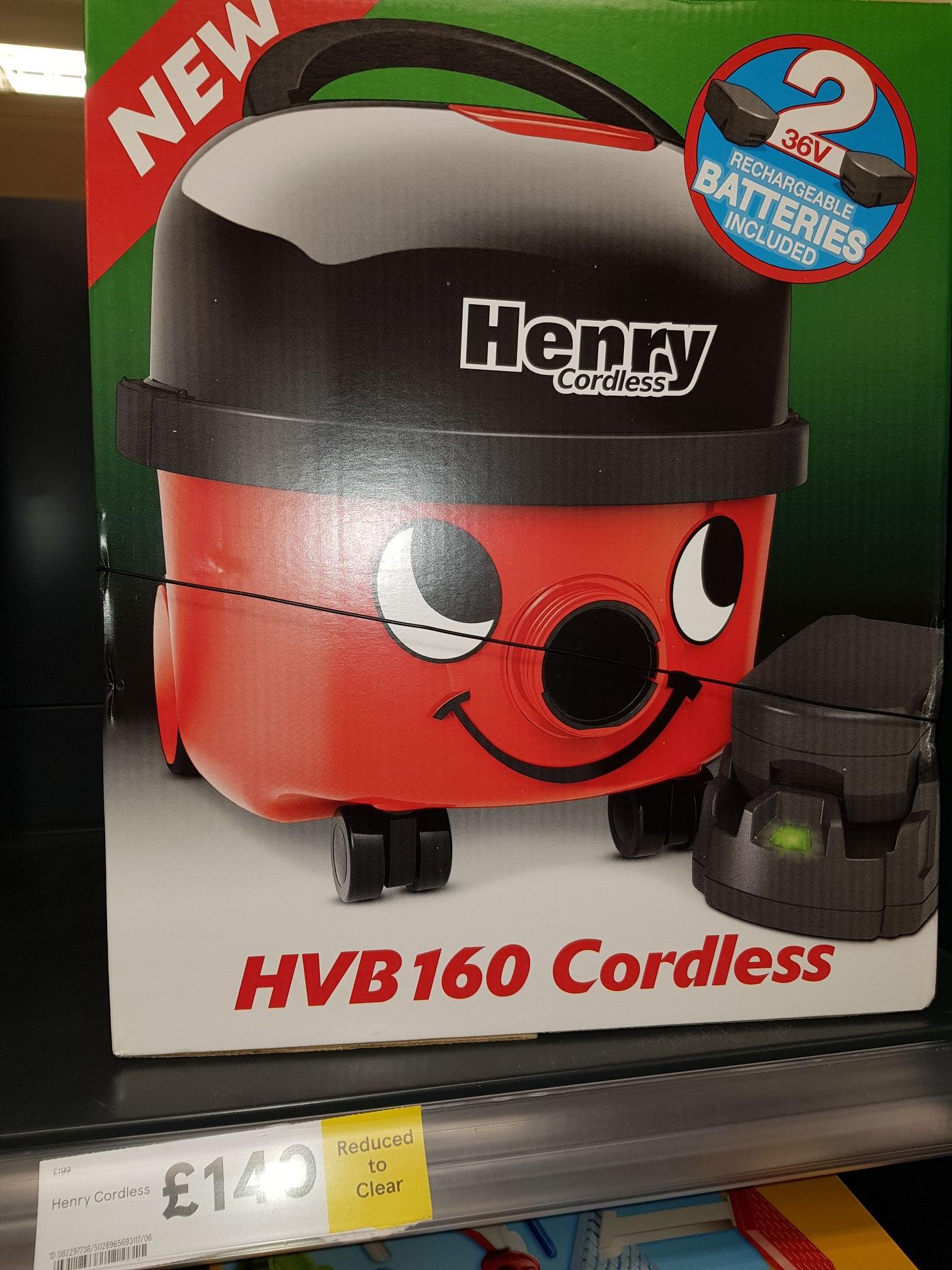 Henry HVB160 cordless hoover Inc. 2 batteries £140 at Tesco instore