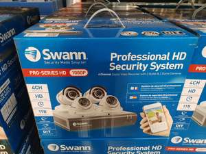 Swann DVR4-4575 4 Channel Digital Video Recorder with 2 x PRO-T852 & 2 x PRO-T854 Cameras £279.98 @ Costco