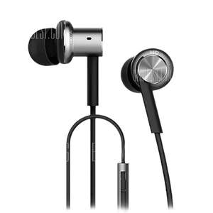 Original Xiaomi Mi IV Hybrid Dual Drivers Earphones Built-in Mic - SILVER  Dynamic Two Balanced-armature Driver / On-cord Control £10.63 @ gearbest