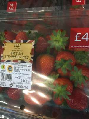 1kg British Stawberries @ Marks and Spencer - £4