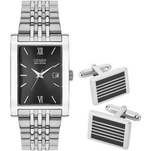 Citizen Eco Drive BW0140-50e + Cufflinks @ Chapell Jewellery (with code 2018FD15) Claimed RRP £250 with 70% off + 15% off after code