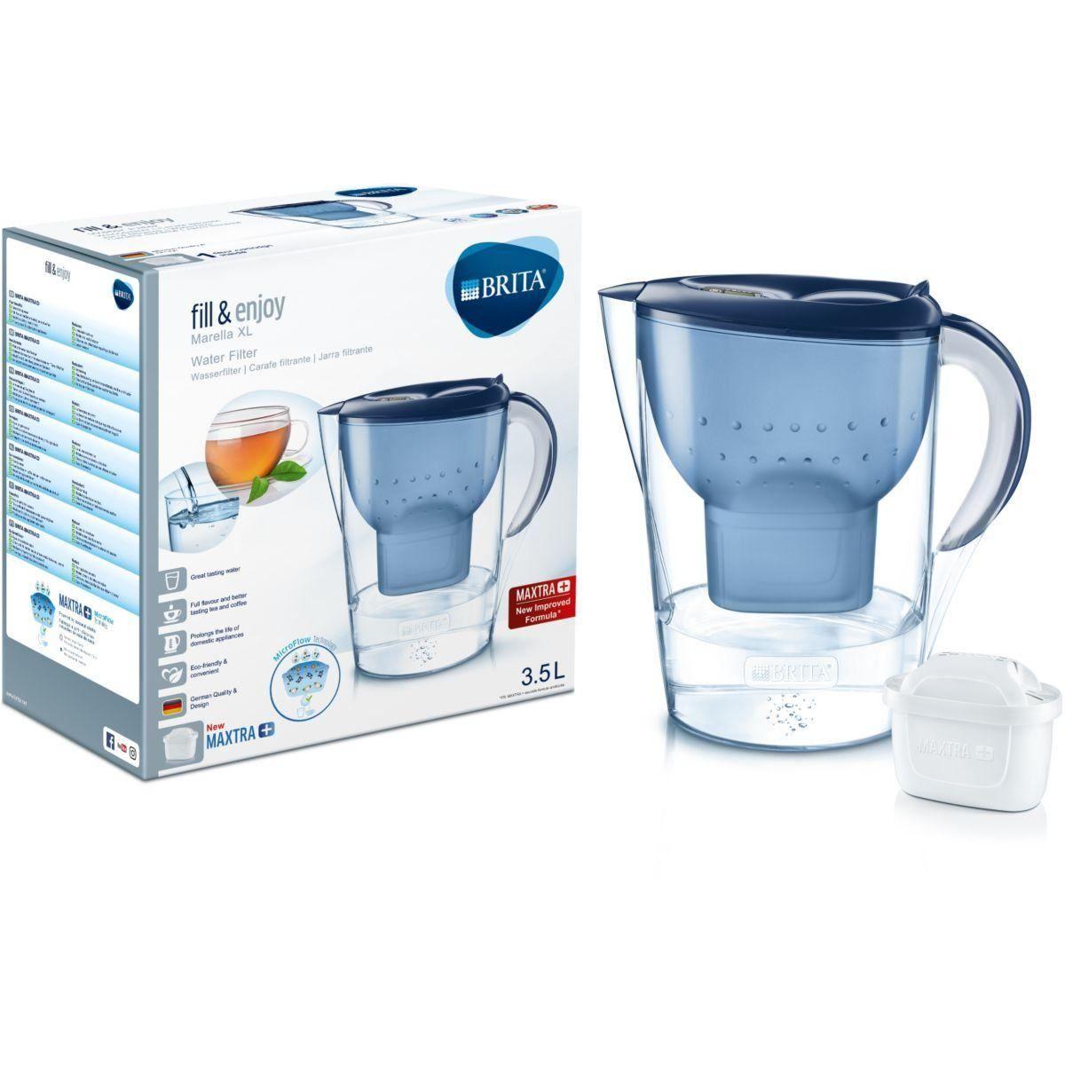 BRITA Marella XL Water Filter Jug and MAXTRA+ Cartridge, Blue or White - £13.05 @ ozaroo-uk / eBay