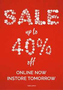 Cath Kidston Sale - online now and in-store tomorrow (07/06/18). Up to 40% off