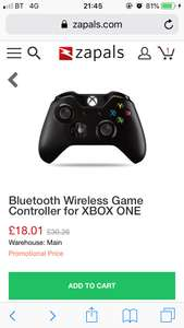 Xbox one controller - £18.01 @ Zapals