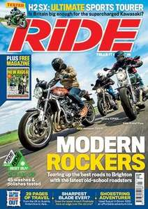 Ride magazine (digital) 12 months with free 18L Oxford F1 Tail Pack £29 (potential £6 TCB)