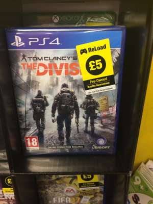 The Division PS4 Pre-owned £5 instore Poundland Newcastle
