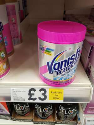 Vanish Platinum OxiAction 940g (Pink) Reduced to £3 in Tesco
