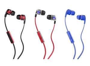 SKULLCANDY Smokin' Buds 2 Headphones Black&Red or Black&Clear or Blue for £5 delivered @ Currys