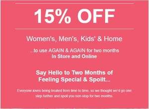 15% off for 2 months Matalan Rewards App @ Matalan
