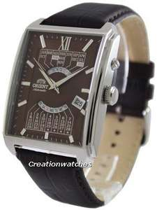 Orient Automatic Multi Year Calendar EUAG004T Men's Watch, 50M WR, Leather Strap, DOTD, £80 @ Creation Watches