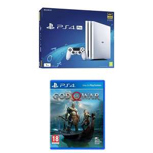 White Sony PlayStation 4 Pro Console with God of War - £349.99 - Amazon
