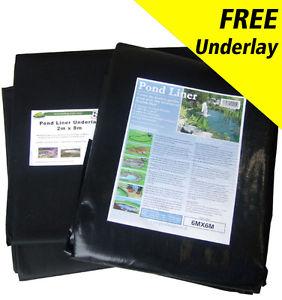 2m by 2m pond liner and free underlay - £10 @ pondliner_bargains eBay