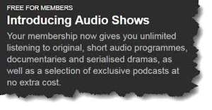 Aubible Audio Shows & Podcasts - Free for Audible Members
