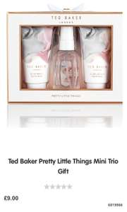 Ted baker pretty little things Trio free with selected two purchases from Boots - £9
